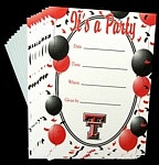 Texas Tech Red Raiders Party Invitations