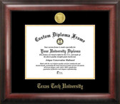 Texas Tech Red Raiders Gold Embossed Diploma Frame