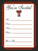 Texas Tech Red Raiders Formal Invitations