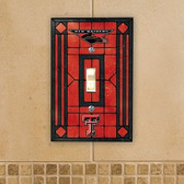 Texas Tech Red Raiders Art Glass Switch Cover