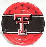 "Texas Tech Red Raiders 9"" Dinner Paper Plates"