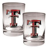 Texas Tech Red Raiders 2pc Rocks Glass Set
