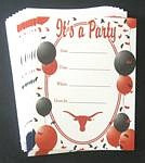 Texas Longhorns Party Invitations