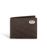Texas Longhorns Leather Wrinkle Brown Passcase Wallet