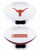 Texas Longhorns Full Size Embroidered Football