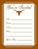 Texas Longhorns Formal Invitations