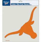 """Texas Longhorns Die-Cut Decal - 8""""x8"""" Color"""
