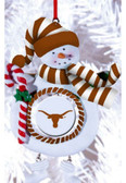 Texas Longhorns Clay Dough Snowman Ornament