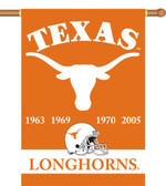 "Texas Longhorns Championship Years 28""x40"" Banner w/ Pole Sleeve"