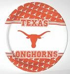 "Texas Longhorns 9"" Dinner Paper Plates"