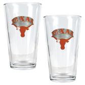 Texas Longhorns 2pc Pint Ale Glass Set
