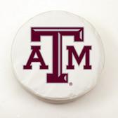 Texas A&M Aggies White Tire Cover, Small