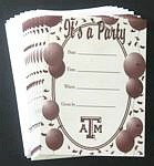 Texas A&M Aggies Party Invitations