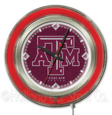 Texas A&M Aggies Neon Clock