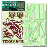 Texas A&M Aggies Lil' Buddy Glow In The Dark Decal Kit