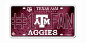 Texas A&M Aggies License Plate - #1 Fan