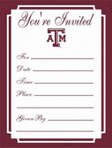 Texas A&M Aggies Formal Invitations