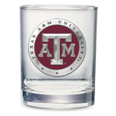 Texas A&M Aggies Double Old Fashioned Glass Set