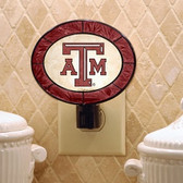 Texas A&M Aggies Art Glass Nightlight