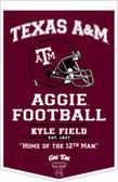 """Texas A&M Aggies 18""""x27"""" PowerHouse Wool Banner"""