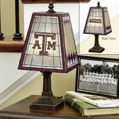 """Texas A&M Aggies 14"""" Art Glass Table Lamp"""