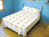 Tennessee Volunteers White Sheet Set (King)