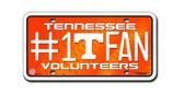 Tennessee Volunteers License Plate - #1 Fan