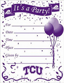 TCU Horned Frogs Party Invitations
