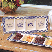 TCU Horned Frogs Ceramic Relish Tray