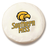 Southern Miss Golden Eagles White Tire Cover, Large