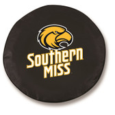 Southern Miss Golden Eagles Black Tire Cover, Large