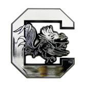 South Carolina Gamecocks Silver Auto Emblem
