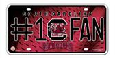 South Carolina Gamecocks License Plate - #1 Fan