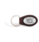 South Carolina Gamecocks Brown Leather Key Chain