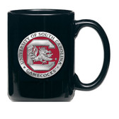 South Carolina Gamecocks Black Coffee Mug Set