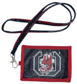 South Carolina Gamecocks Beaded Lanyard Wallet