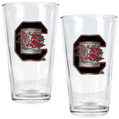 South Carolina Gamecocks 2pc Pint Ale Glass Set