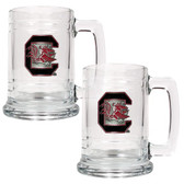 South Carolina Gamecocks 2pc Glass Tankard Set