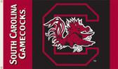 South Carolina Gamecocks 2-Sided 3 Ft. x 5 Ft. Flag w/Grommets