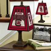 "South Carolina Gamecocks 14"" Art Glass Lamp"