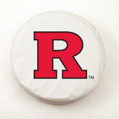 Rutgers Scarlet Knights White Tire Cover, Large