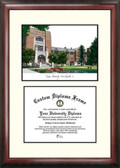 Purdue University Scholar Framed Lithograph with Diploma