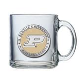 Purdue Boilermakers Logo Clear Coffee Mug Set