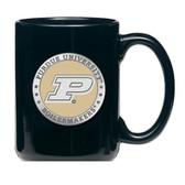 Purdue Boilermakers Black Coffee Mug Set