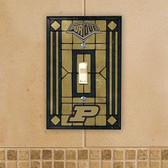 Purdue Boilermakers Art Glass Switch Cover
