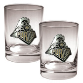 Purdue Boilermakers 2pc Rocks Glass Set
