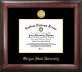 Oregon State University Gold Embossed Medallion Diploma Frame