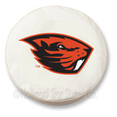 Oregon State Beavers White Tire Cover, Large
