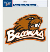 """Oregon State Beavers Die-Cut Decal - 8""""x8"""" Color"""