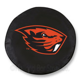 Oregon State Beavers Black Tire Cover, Large